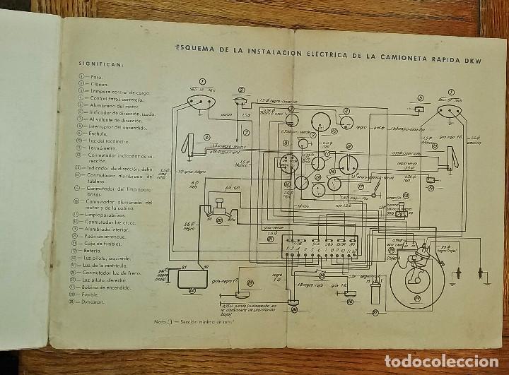 Coches y Motocicletas: MANUAL INSTRUCCIONES DKW 4 VELOCIDADES CIRCA 1950'S - Foto 5 - 142686290