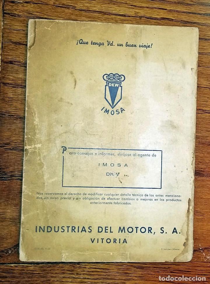 Coches y Motocicletas: MANUAL INSTRUCCIONES DKW 4 VELOCIDADES CIRCA 1950'S - Foto 6 - 142686290