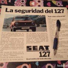 Coches y Motocicletas: ANTIGUO ANUNCIO PUBLICIDAD REVISTA COCHE SEAT 127 PARA ENMARCAR. Lote 142790590