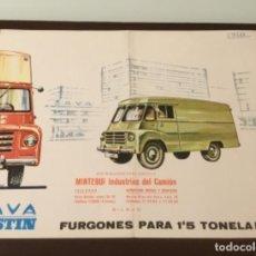 Coches y Motocicletas: ANTIGUO CATÁLOGO CAMIÓN SAVA AUSTIN PEGASO BARREIROS . Lote 142806714