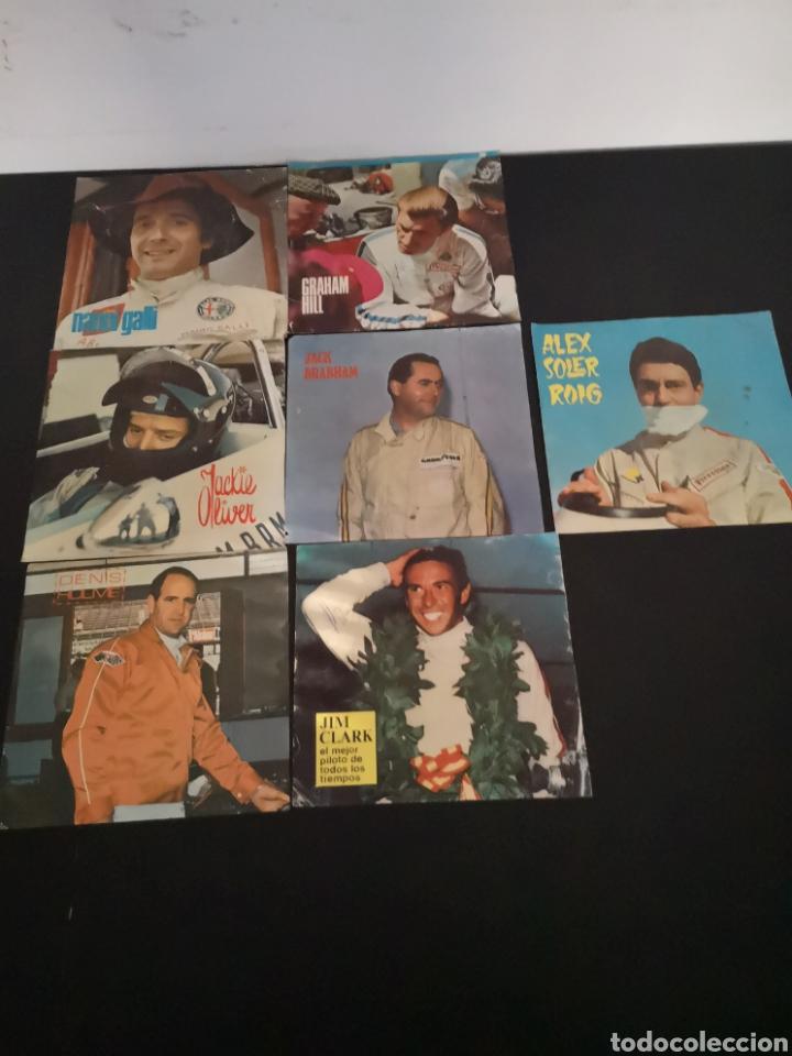 LOTE DE 7 FOTOS DE 23X22'5 DE LOS MEJORES PILOTOS DE LA F1 DE LOS 60S Y 70S (Coches y Motocicletas Antiguas y Clásicas - Catálogos, Publicidad y Libros de mecánica)
