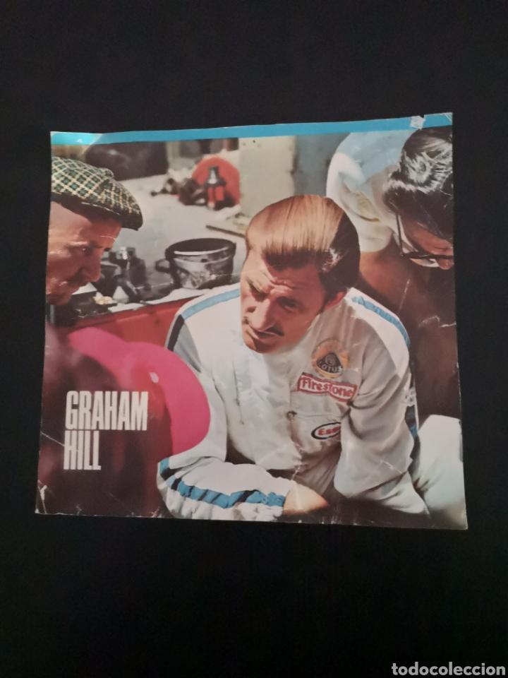 Coches y Motocicletas: Lote de 7 fotos de 23x22'5 de los mejores pilotos de la F1 de los 60s Y 70s - Foto 4 - 142880577