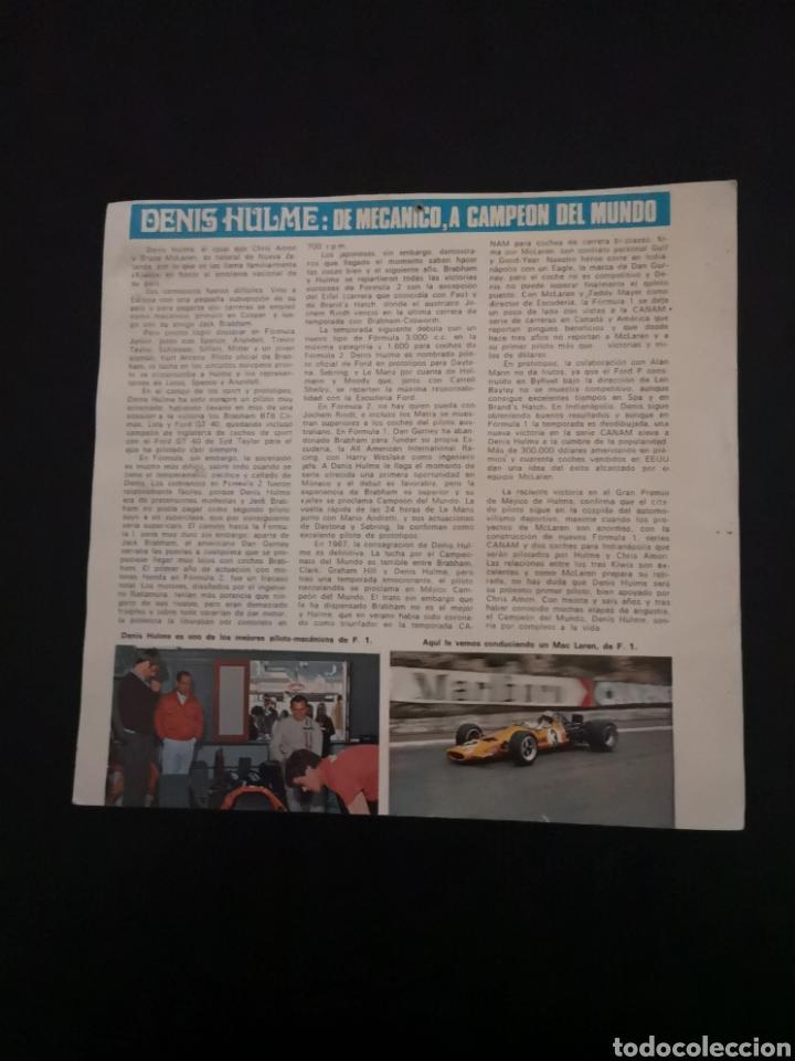 Coches y Motocicletas: Lote de 7 fotos de 23x22'5 de los mejores pilotos de la F1 de los 60s Y 70s - Foto 7 - 142880577