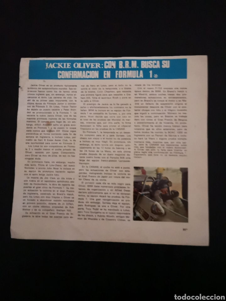 Coches y Motocicletas: Lote de 7 fotos de 23x22'5 de los mejores pilotos de la F1 de los 60s Y 70s - Foto 15 - 142880577