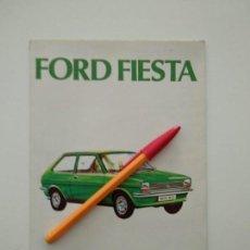 Coches y Motocicletas: GUIA DE FUNCIONAMIENTO FORD FIESTA DESPLEGABLE - ESPAÑOL. Lote 143025726