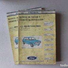 Coches y Motocicletas: FORD FIESTA, MANUAL DE TALLER Y TIEMPOS DE REPARACIÓN, DOS TOMOS, FEBRERO 1985. Lote 143038342