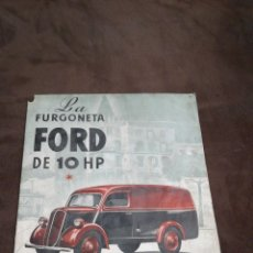 Coches y Motocicletas: CATÁLOGO FORD 10 HP. Lote 143084806