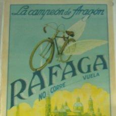Coches y Motocicletas: CARTEL ORIGINAL PUBLICITARIO BICICLETA RAFAGA. Lote 143134914