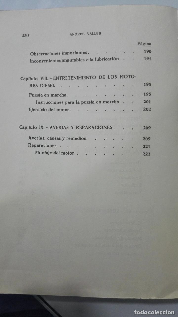 Coches y Motocicletas: EL MOTOR DIESEL - A. VALLES - EDITORIAL SINTES - 2º EDICION 1959 - VOL DOBLE 61-62 - Foto 5 - 31256631