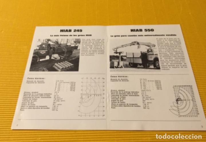 Coches y Motocicletas: Antiguo catálogo grúas hiab camión barreiros pegaso ebro - Foto 3 - 143231522