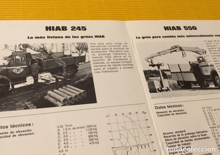 Coches y Motocicletas: Antiguo catálogo grúas hiab camión barreiros pegaso ebro - Foto 4 - 143231522