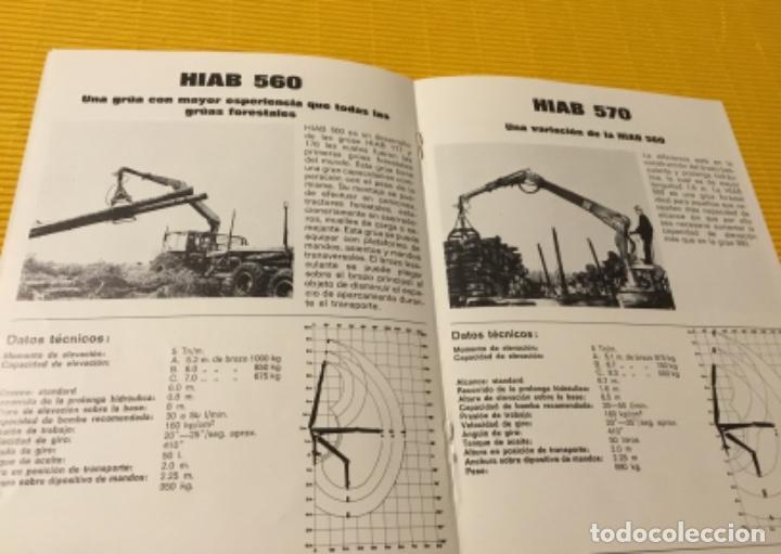 Coches y Motocicletas: Antiguo catálogo grúas hiab camión barreiros pegaso ebro - Foto 5 - 143231522