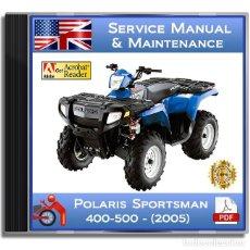 Coches y Motocicletas: POLARIS SPORTSMAN 400/500 - SERIES (2005) - SERVICE MANUAL - ENGLISH - DVD - PDF. Lote 143249790