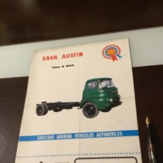 Coches y Motocicletas: ANTIGUO CATÁLOGO CAMIÓN SAVA AUSTIN TOTALMENTE ORIGINAL. Lote 143554258
