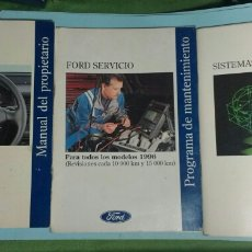 Coches y Motocicletas: FORD FIESTA. MANUAL PROPIETARIO, PROGRAMA MANTENIMIENTO Y MANUAL DE FUNCIONAMIENTO. Lote 143666450