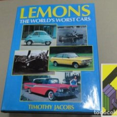 Coches y Motocicletas: JACOBS, TIMOTHY: LEMONS. THE WORLD'S WORST CARS. Lote 143688890