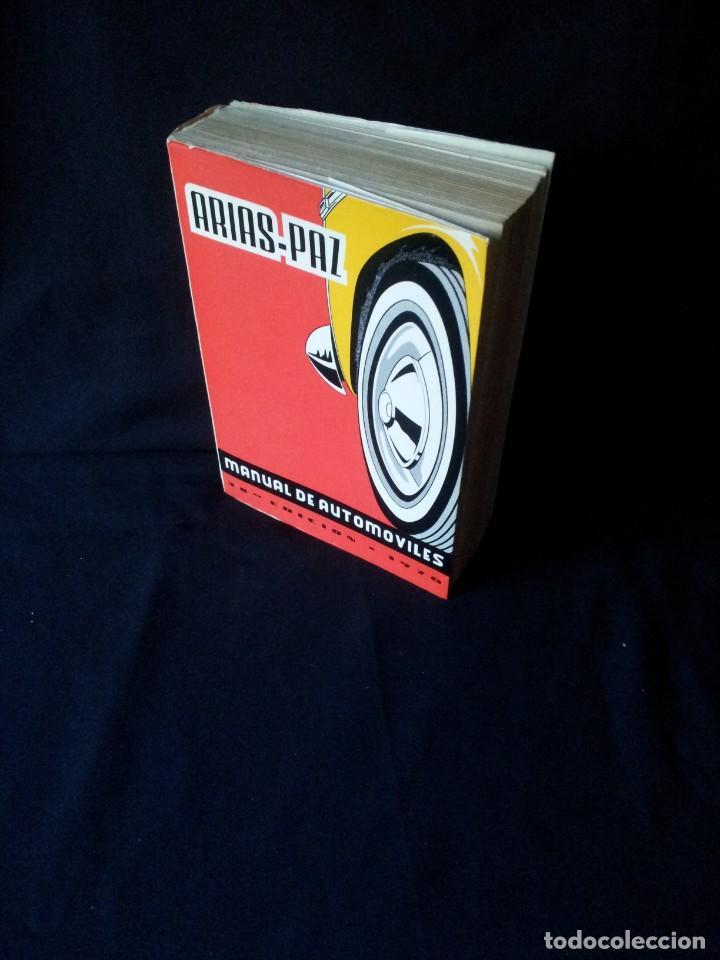 MANUAL DE AUTOMOVILES, ARIAS-PAZ - 38º EDICION 1970 (Coches y Motocicletas Antiguas y Clásicas - Catálogos, Publicidad y Libros de mecánica)