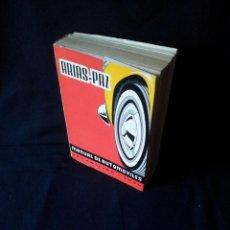 Coches y Motocicletas: MANUAL DE AUTOMOVILES, ARIAS-PAZ - 38º EDICION 1970. Lote 143742390