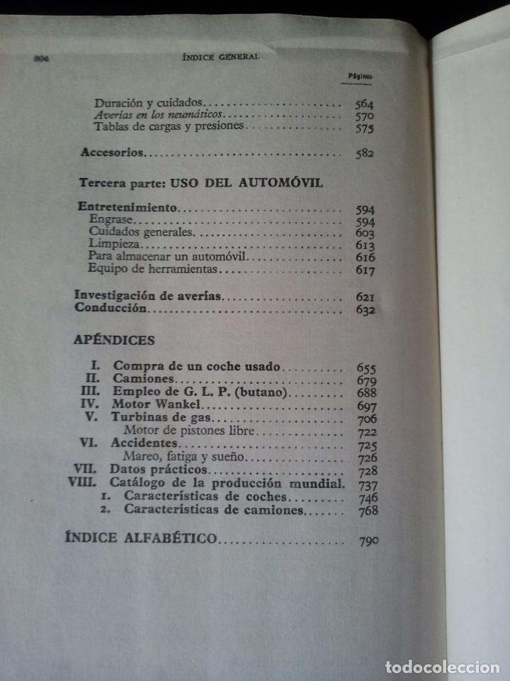 Coches y Motocicletas: MANUAL DE AUTOMOVILES, ARIAS-PAZ - 38º EDICION 1970 - Foto 10 - 143742390