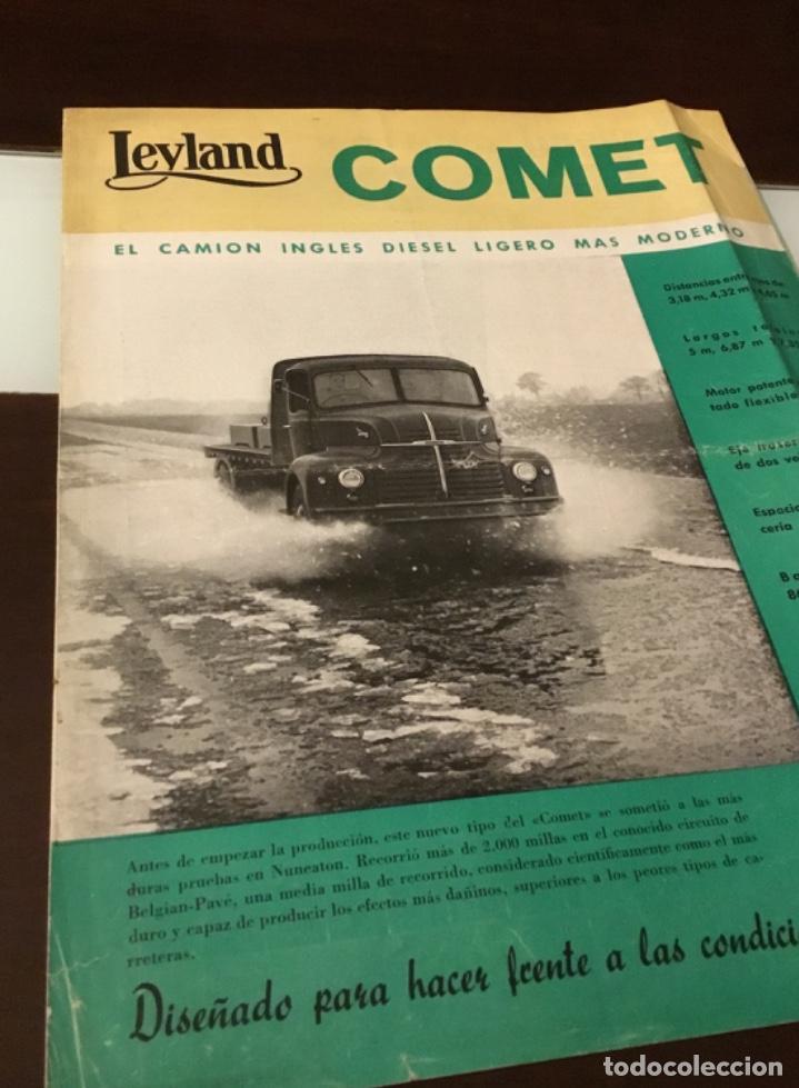 Coches y Motocicletas: Atencion antiguo catálogo camión leyland comet una joya del coleccionismo antiguo pegaso - Foto 2 - 143756810