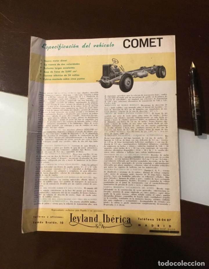 Coches y Motocicletas: Atencion antiguo catálogo camión leyland comet una joya del coleccionismo antiguo pegaso - Foto 11 - 143756810