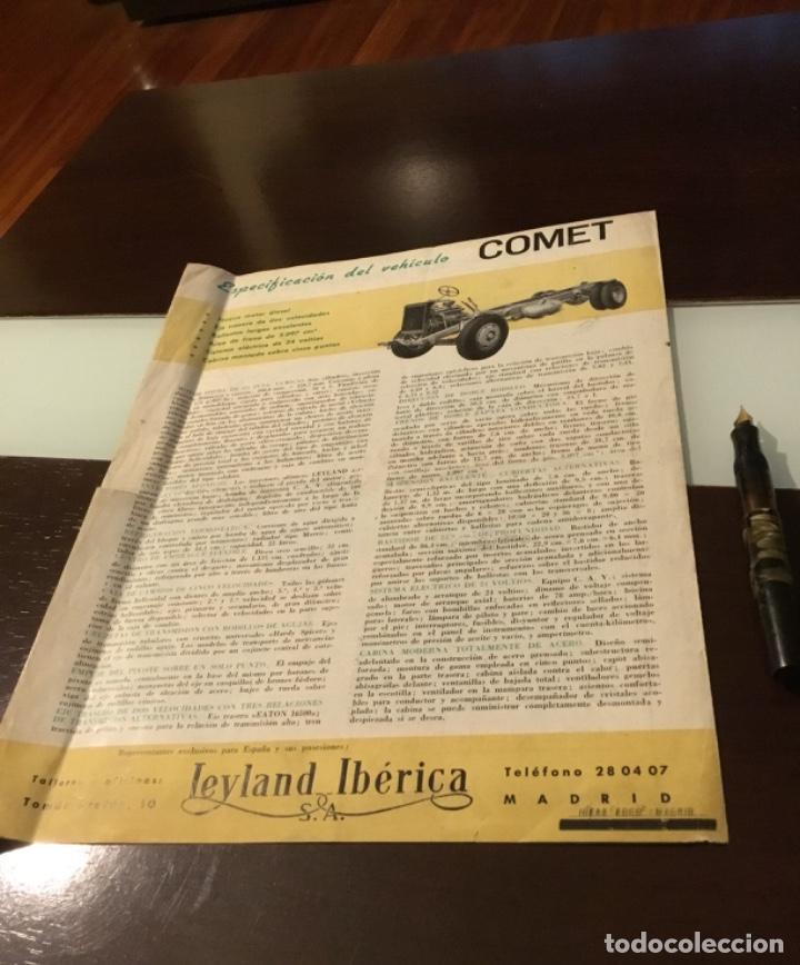 Coches y Motocicletas: Atencion antiguo catálogo camión leyland comet una joya del coleccionismo antiguo pegaso - Foto 12 - 143756810