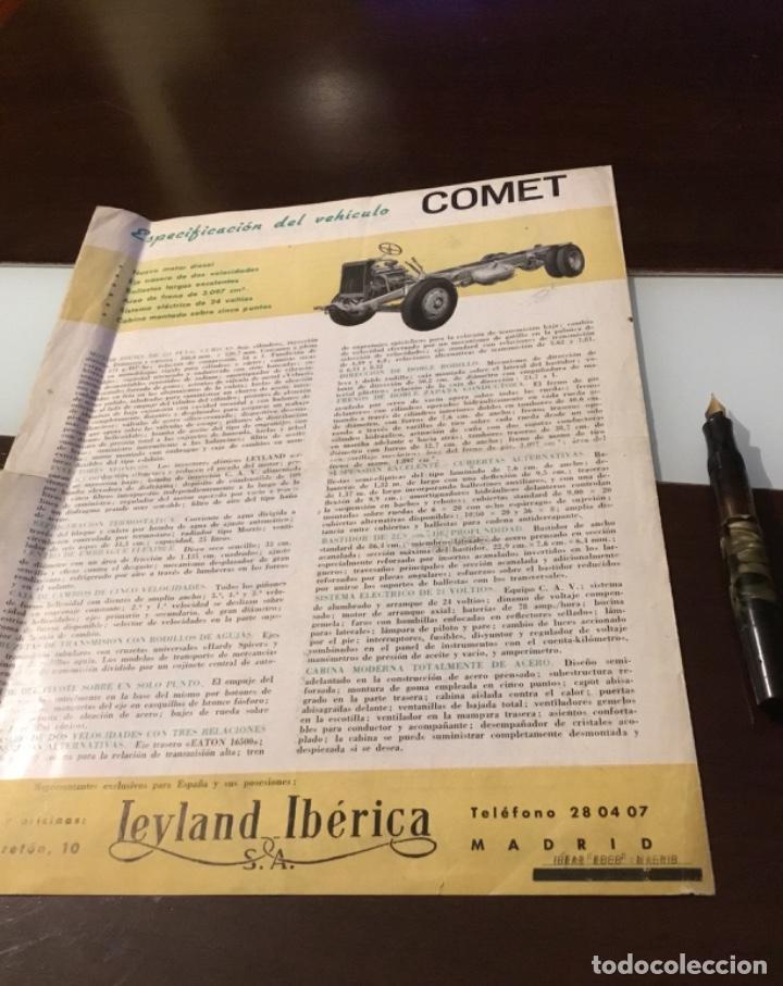 Coches y Motocicletas: Atencion antiguo catálogo camión leyland comet una joya del coleccionismo antiguo pegaso - Foto 13 - 143756810