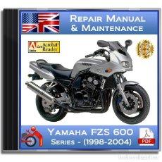 Coches y Motocicletas: YAMAHA FZS 600 - SERIES (1998-2004) - SERVICE MANUAL - ENGLISH - DVD - PDF. Lote 143864882