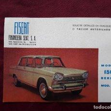 Coches y Motocicletas: TARJETA FISEAT FINANCIERA SEAT, S.A., MODELO 1500 BERLINA . Lote 143877442