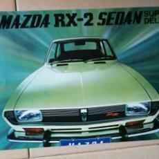 Coches y Motocicletas: MAZDA RX-2 SEDAN SUPER DELUXE. CATÁLOGO. FOLLETO DE COCHE. CARACTERÍSTICAS TÉCNICAS.. Lote 143886214