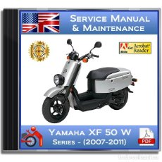 Coches y Motocicletas: YAMAHA XF 50 W - (2007-2011) - SERVICE MANUAL - ENGLISH - DVD - PDF. Lote 144111190