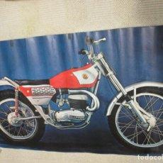 Coches y Motocicletas: BULTACO SHERPA, POSTER ORIGINAL ANTIGUO DE 94X55 CM. MÍTICA MOTOCICLETA DE TRIAL. Lote 144132630