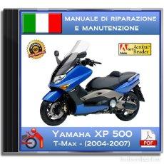 Coches y Motocicletas: YAMAHA XP 500 T-MAX - (2004-2007) - MANUALE DI RIPARAZIONE - ITALIANO - DVD - PDF. Lote 144139890