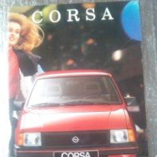 Coches y Motocicletas: OPEL CORSA-CATALOGO PUBLICITARIO-1989-TODOS LAS MODELOS DE ESE AÑO-ESPAÑOL-. Lote 144224078