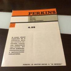 Coches y Motocicletas: ANTIGUO CATÁLOGO CAMIÓN PERKINS. Lote 144295310