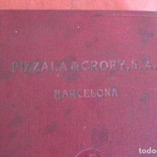 Coches y Motocicletas: CATALOGO GENERAL PIZZALA Y CRORY, S.A. 1948 - BARCELONA - 560 PÁGINAS MATERIALES. Lote 144484882