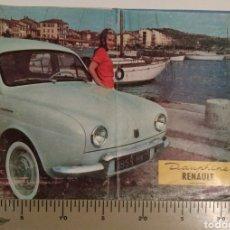 Voitures et Motocyclettes: CATALOGO PUBLICITARIO RENAULT DAUPHINE 1959 EN ESPAÑOL. Lote 144711096