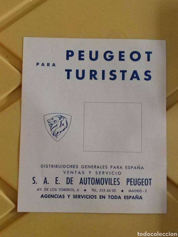 FOLLETO PUBLICITARIO PEUGEOT LISTA DE PRECIOS 1968 EN ESPAÑOL (Coches y Motocicletas Antiguas y Clásicas - Catálogos, Publicidad y Libros de mecánica)