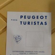 Coches y Motocicletas: FOLLETO PUBLICITARIO PEUGEOT LISTA DE PRECIOS 1968 EN ESPAÑOL. Lote 144712809