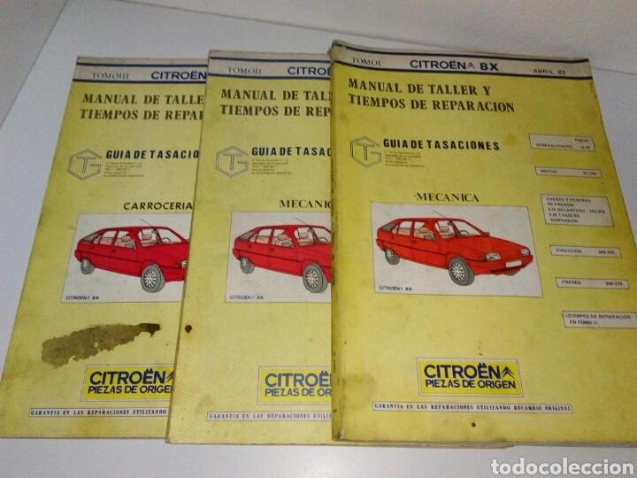 MANUAL DE TALLER MECANICA CITROEN BX 3 TOMOS (Coches y Motocicletas Antiguas y Clásicas - Catálogos, Publicidad y Libros de mecánica)