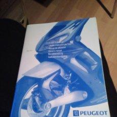 Coches y Motocicletas: MANUAL DE UTILIZACION DE LA MOTO PEUGEOT SPEEDFIGHT DE 1995 EN VARIOS IDIOMAS. Lote 145280830
