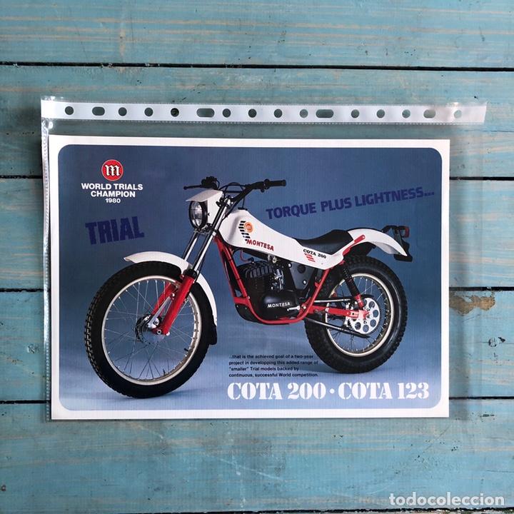 FOLLETO MONTESA COTA 200 Y 123 (Coches y Motocicletas Antiguas y Clásicas - Catálogos, Publicidad y Libros de mecánica)