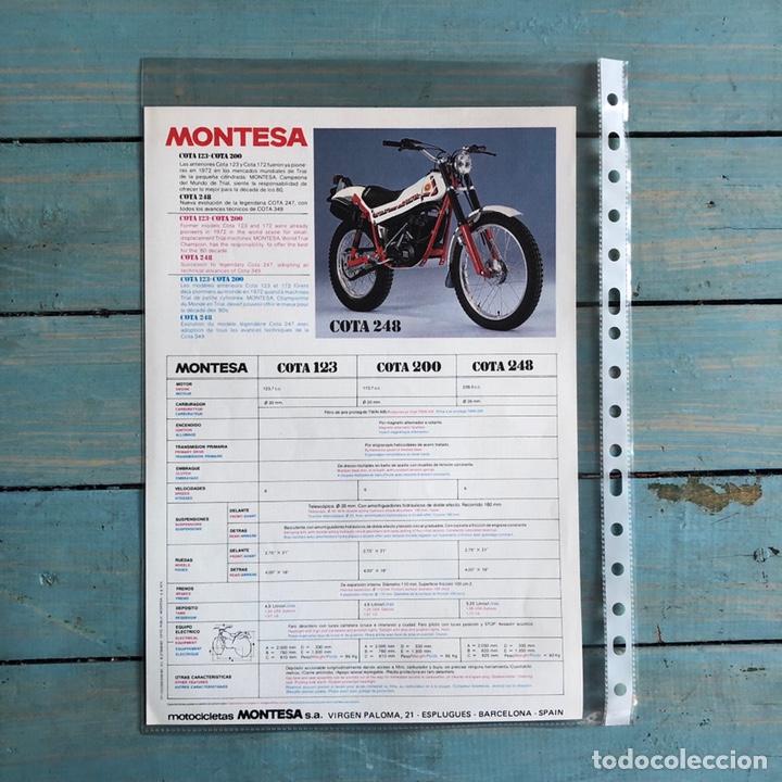 Coches y Motocicletas: Folleto montesa cota 200 y 123 - Foto 2 - 145317240