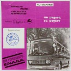 Coches y Motocicletas: PEGASO. CAMIÓN. ENASA. HOJA PUBLICITARIA 1970. Lote 145484374