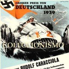 Coches y Motocicletas: MERCEDES-BENZ GROSSER PREIS VON DEUTSCHLAND 1939 - PUBLICIDAD IMÁGENES MOTOR ALEMANIA. Lote 145514782