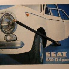 Coches y Motocicletas: CATÁLOGO FOLLETO DESPLEGABLE SEAT 850 D 4 PUERTAS 1972 EN ESPAÑOL. Lote 145649954