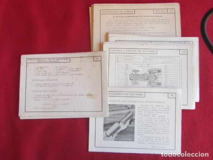 41 FICHAS CURSO DE MOTORES CEAC 1959-60. LOCALIZACIÓN DE AVERIAS, CUIDADOS, ENGRASES. (Coches y Motocicletas Antiguas y Clásicas - Catálogos, Publicidad y Libros de mecánica)