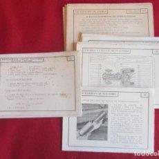 Coches y Motocicletas: 41 FICHAS CURSO DE MOTORES CEAC 1959-60. LOCALIZACIÓN DE AVERIAS, CUIDADOS, ENGRASES.. Lote 145664462