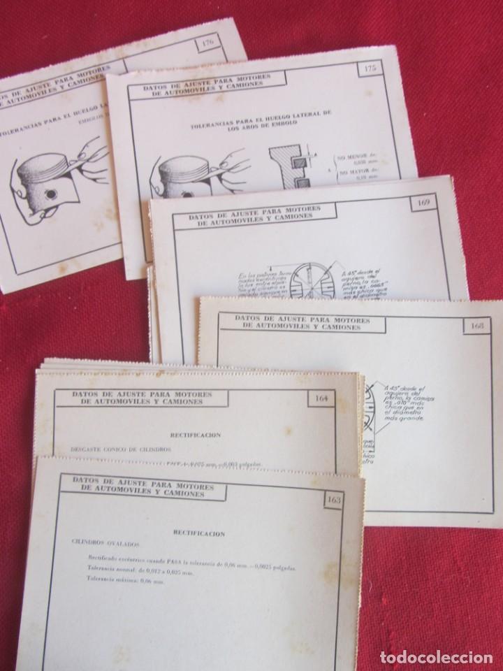 Coches y Motocicletas: 41 FICHAS CURSO DE MOTORES CEAC 1959-60. LOCALIZACIÓN DE AVERIAS, CUIDADOS, ENGRASES. - Foto 2 - 145664462