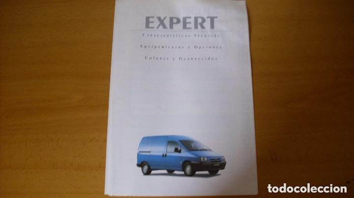 FOLLETO CATÁLOGO CARACTERÍSTICAS TÉCNICAS PEUGEOT EXPERT 1998 REPARACIÓN AUTOMÓVIL COCHE (Coches y Motocicletas Antiguas y Clásicas - Catálogos, Publicidad y Libros de mecánica)